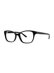 Badgley Mischka Gloriana Full Rim Tea Cup Black Frame for Women, 52/16/135