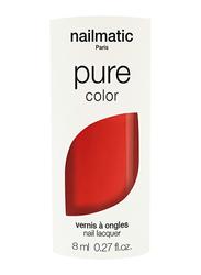 Nailmatic Pure Color Plant-Based Glossy Nail Polish, 8ml, Ella Coral Red