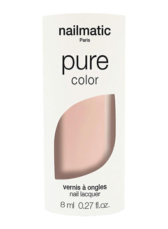Nailmatic Pure Color Plant-Based Glossy Nail Polish, 8ml, Elsa Sheer Beige