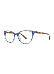 Badgley Mischka Florine Full Rim Tea Cup Blue Frame for Women, 53/16/140