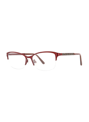 XOXO Viejo Half-Rim Tea Cup Raspberry Eyeglass Frame for Women, 53/17/135
