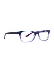 XOXO Portico Full Rim Rectangle Teal/Purple Frame for Women, 55/17/135