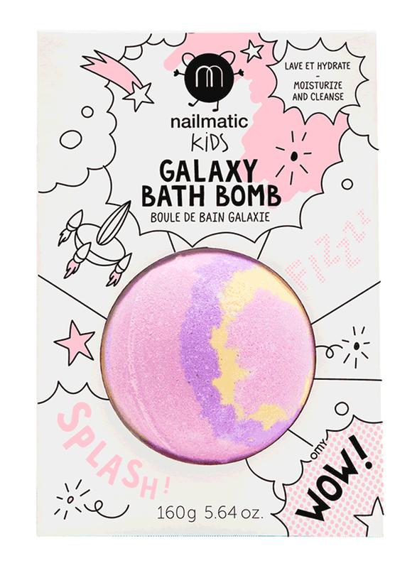 Nailmatic Kids 160g Supernova Bath Ball, Pink/Yellow/Purple
