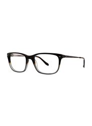 Badgley Mischka Frazer Full Rim Rectangle Tort Grey Frame for Men, 54/18/145