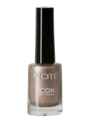Note Icon Nail Enamel, 542 Metallic Nude, Silver