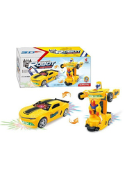 LB Toys Car Converting Transformer Robot with Light & Sound Electronic Toy, Ages 3+