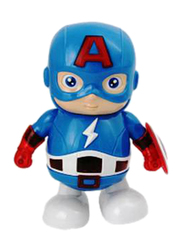 Yijun Captain America Hero Dancing Team Leader with Music Light Electronic Toy, Ages 3+, Blue