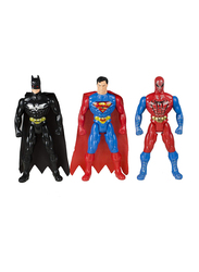 LB Toys 27cm Super Heroes Spiderman/Superman/Batman Adjustable Body Figurine Toys Set, 3 Pieces, Ages 3+