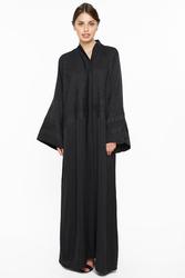 Nukhbaa Net Abaya with Hijab, Black, 4XL
