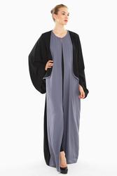 Nukbhaa Coat Style Abaya with Hijab, Mediumulticolour, Medium