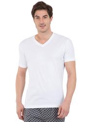 Jockey Men's 24X7 Short Sleeve V-Neck T-Shirt, 2726-0105, Medium, White