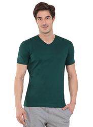 Jockey Men's 24X7 Short Sleeve V-Neck T-Shirt, 2726-0105, Medium, Eden Green