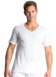 Jockey Elance Short Sleeve V-Neck T-Shirt for Men, 8824-0110, Medium, White