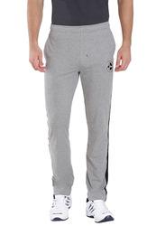 Jockey Men's Sports Track Pants Small, Grey Melange/Black