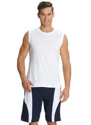 Jockey Men's Sports Knit Shorts Small, Thunder Blue/White