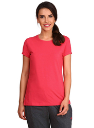 Jockey Ladies 24X7 Short Sleeve T-Shirt for Women, Medium, Ruby