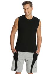 Jockey Men's Sports Knit Shorts Small, Grey Melange