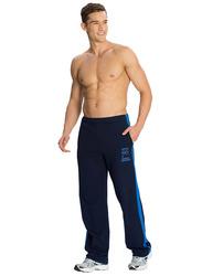 Jockey Men's Sports Star Track Pants Small, Navy/Neon Blue