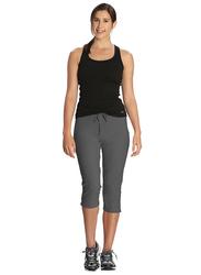 Jockey Ladies 24X7 Capri Pants for Women, Double Extra Large, Charcoal Melange