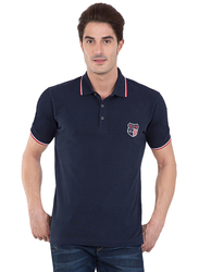 Jockey Men's USA Originals Polo T-Shirt, US85-0103, Extra Large, Navy Blue