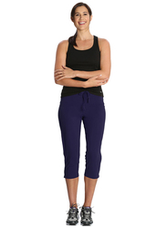 Jockey Ladies 24X7 Capri Pants for Women, Extra Large, Imperial Blue