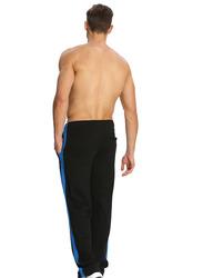 Jockey Men's Sports Star Track Pants Small, Black/Neon Blue