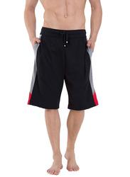 Jockey Men's Sports Active Shorts Medium, Black/Grey Melange