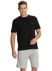 Jockey Men's 24X7 Single Stripe Detail Knit Sport Shorts Double Extra Large, Grey Melange