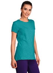 Jockey Ladies 24X7 Short Sleeve T-Shirt for Women, Medium, Teal Melange