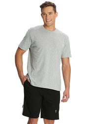 Jockey Men's 24X7 Single Stripe Detail Knit Sport Shorts Small, Black