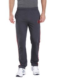 Jockey Men's Sports Track Pants Small, Graphite/Team Red