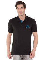 Jockey Men's 24X7 Short Sleeve Sport Polo Shirt, 3911-0103, Small, Black
