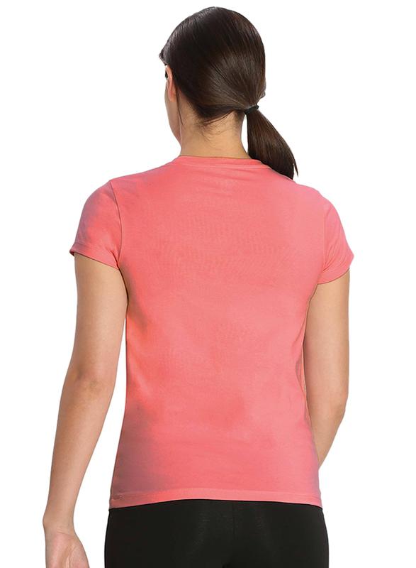 Jockey Ladies 24X7 Short Sleeve V-Neck T-Shirt for Women, Extra Large, Blush Pink