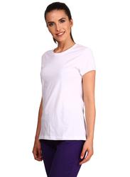Jockey Ladies 24X7 Short Sleeve T-Shirt for Women, Medium, White