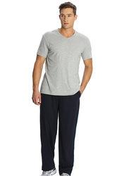 Jockey Men's 24X7 Jersey Pants Small, Navy Blue/New Marine