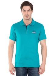 Jockey Men's 24X7 Short Sleeve Sport Polo Shirt, 3911-0103, Small, Deep Atlantis Teal