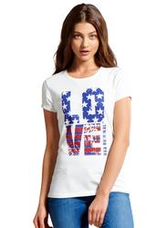 Jockey Ladies USA Originals Short Sleeve Crew Neck T-Shirt for Women, Medium, White