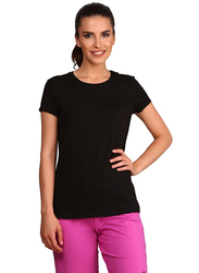Jockey Ladies 24X7 Short Sleeve T-Shirt for Women, Medium, Black