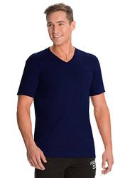 Jockey Men's 24X7 Short Sleeve V-Neck T-Shirt, 2726-0105, Medium, Navy Blue