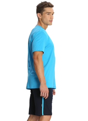 Jockey Men's 24X7 Single Stripe Detail Knit Sport Shorts Double Extra Large, Navy Blue/ New Marine