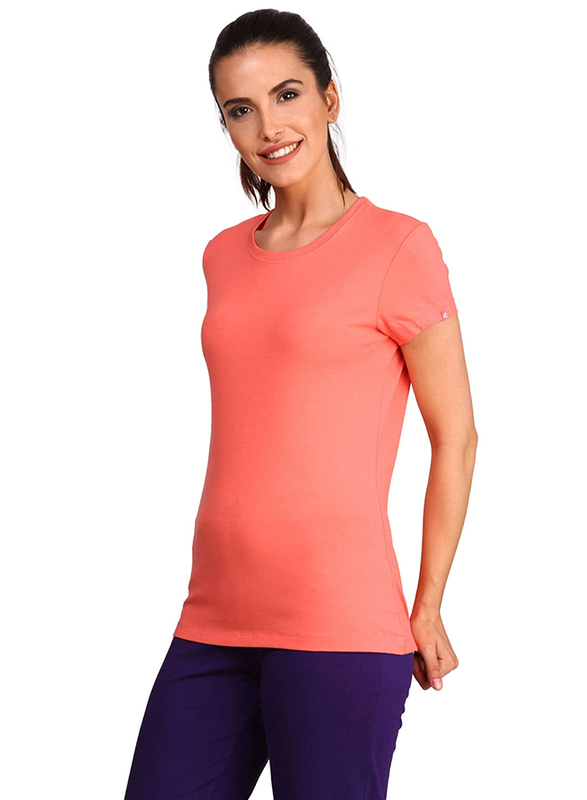 Jockey Ladies 24X7 Short Sleeve T-Shirt for Women, Medium, Blush Pink