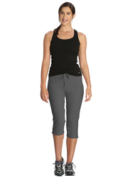 Jockey Ladies 24X7 Capri Pants for Women, Extra Large, Charcoal Melange