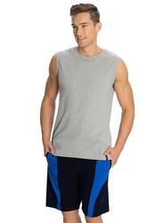 Jockey Men's Sports Knit Shorts Extra Large, Navy/Neon Blue