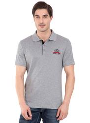 Jockey Men's 24X7 Short Sleeve Sport Polo Shirt, 3911-0103, Small, Grey Melange