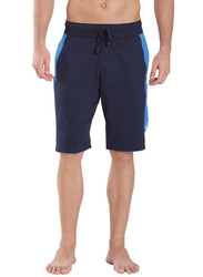 Jockey Men's Sports Active Shorts Double Extra Large, Navy/Neon Blue