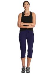 Jockey Ladies 24X7 Capri Pants for Women, Medium, Imperial Blue