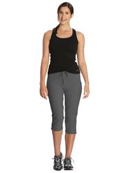 Jockey Ladies 24X7 Capri Pants for Women, Medium, Charcoal Melange