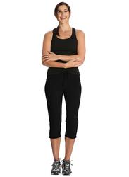 Jockey Ladies 24X7 Capri Pants for Women, Extra Large, Black