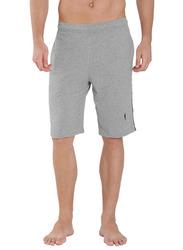 Jockey Men's 24X7 Double Stripe Detail Knit Sport Shorts Double Extra Large, Grey Melange/Navy Blue