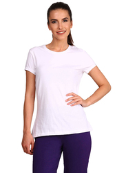 Jockey Ladies 24X7 Short Sleeve T-Shirt for Women, Medium, White